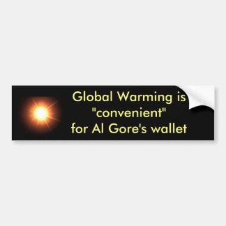 El calentamiento del planeta es conveniente para l pegatina para auto