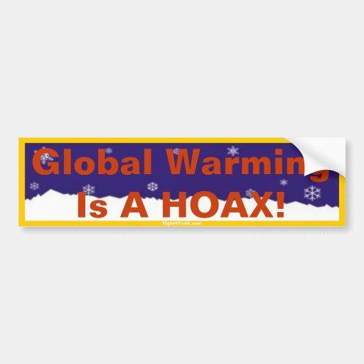 El calentamiento del planeta es pegatina para el p etiqueta de parachoque