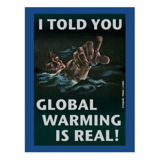 El calentamiento del planeta es real tarjeta postal