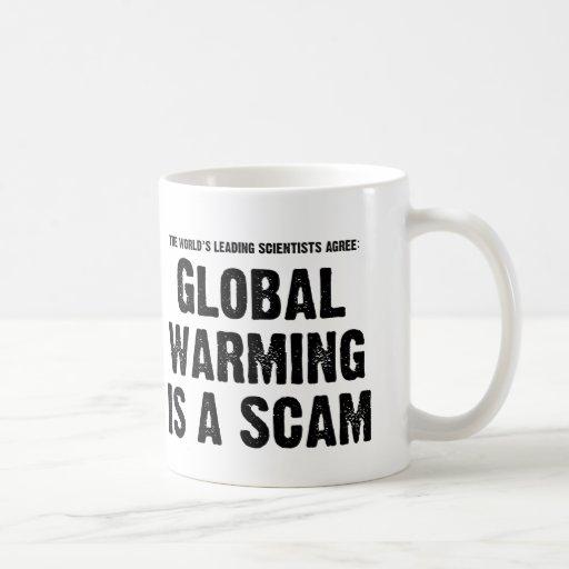 El calentamiento del planeta es un timo tazas de café