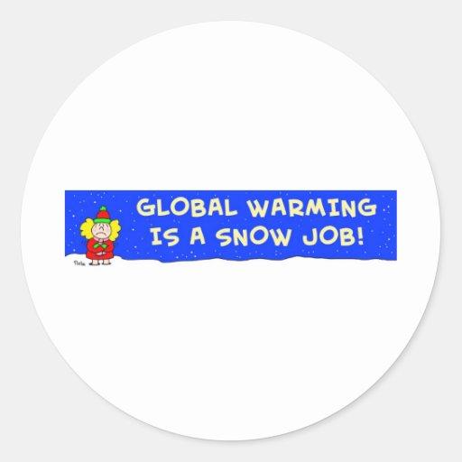 el calentamiento del planeta es un trabajo de etiquetas redondas