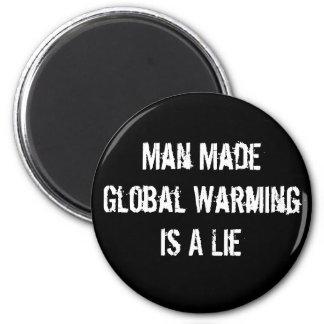 El calentamiento del planeta hecho hombre es una m imán redondo 5 cm
