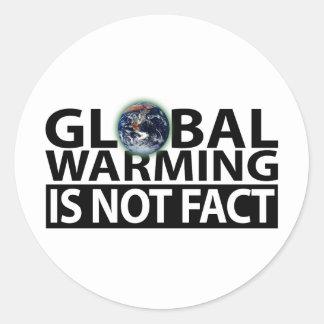 El calentamiento del planeta no es hecho pegatina redonda