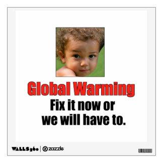 El calentamiento del planeta pela apagado la etiqu