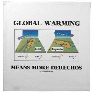 El calentamiento del planeta significa más servilleta
