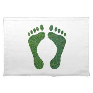 El calentarse de EarthDay de la huella del verde Mantel Individual