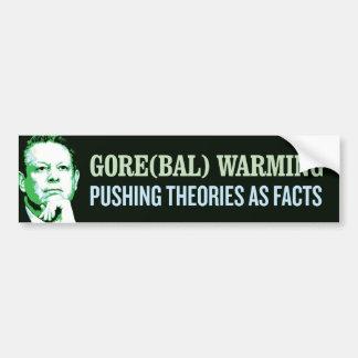 El calentarse de Gore bal Etiqueta De Parachoque
