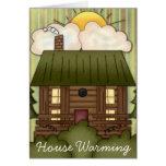 El calentarse de la casa invita tarjetas