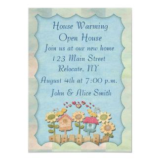 El calentarse de la casa invitación 12,7 x 17,8 cm