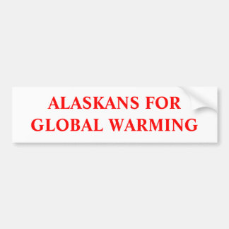 EL CALENTARSE DE LOS ALASKANS FORGLOBAL PEGATINA PARA AUTO