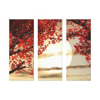 El calentarse y los árboles pacíficos envolvieron  impresion de lienzo