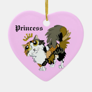 ¡El calicó tiene Cattitude! ornamento de la prince Adorno De Reyes