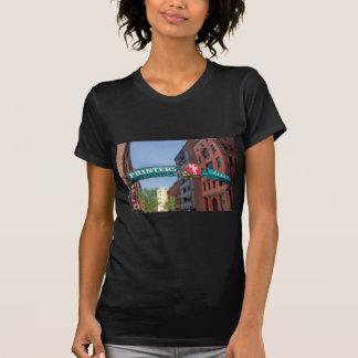 El callejón de la impresora camisetas