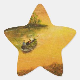 """El """"callejón del pescador"""" por Jack Lepper Pegatina En Forma De Estrella"""