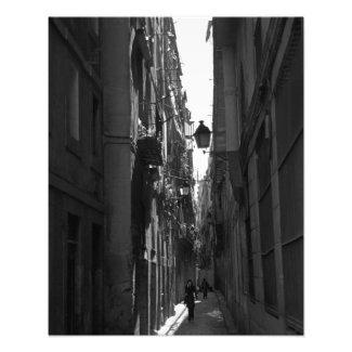 El Callejon Photo Print (Barcelona, Spain)