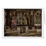 El Calvary y el altar griego, Jerusalén, L santo Tarjetas
