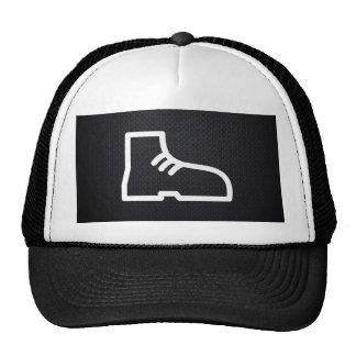 El calzado patea el pictograma gorra