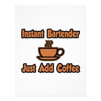 El camarero inmediato… apenas añade el café flyer a todo color