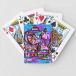 El camarero italiano barajas de cartas