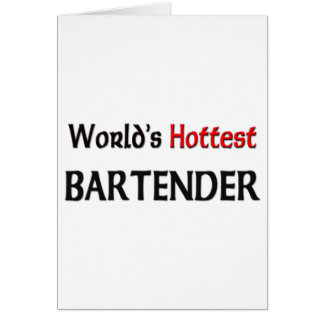 El camarero más caliente de los mundos tarjeta de felicitación
