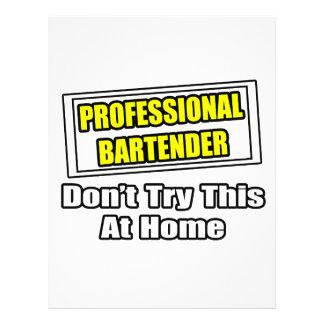 El camarero profesional… no intenta esto en casa tarjetas publicitarias