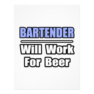 El camarero… trabajará para la cerveza tarjetas informativas
