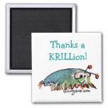 El camarón antártico del dibujo animado le agradec