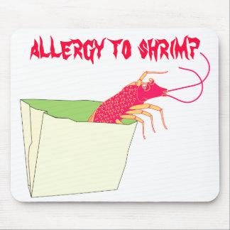 El camarón en la bolsa de papel tapetes de raton