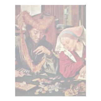 El cambiador de dinero y su esposa de Reymerswaele Membrete Personalizado