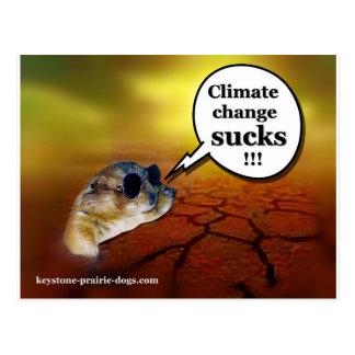 ¡El cambio de clima chupa! Tarjeta Postal