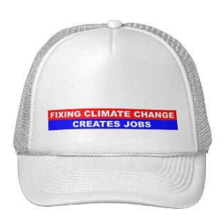 El cambio de clima de la fijación crea trabajos gorras