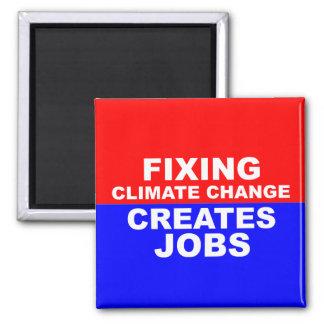 El cambio de clima de la fijación crea trabajos imán cuadrado