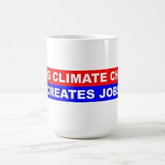 El cambio de clima de la fijación crea trabajos taza de café