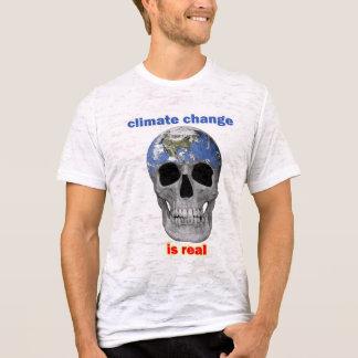 El cambio de clima es la camiseta de los hombres