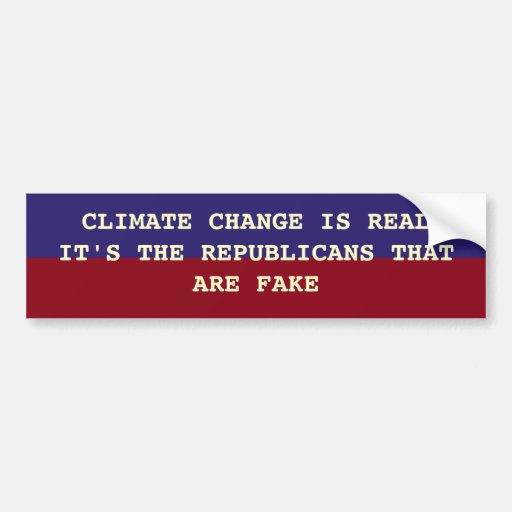 EL CAMBIO DE CLIMA ES REAL PEGATINA DE PARACHOQUE