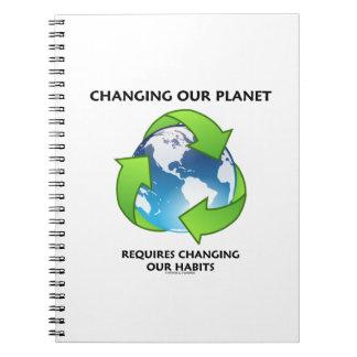 El cambio de nuestro planeta requiere el cambio de libro de apuntes con espiral