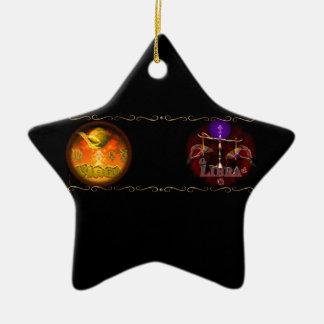 El cambio de signo de la astrología del zodiaco de ornamento de navidad