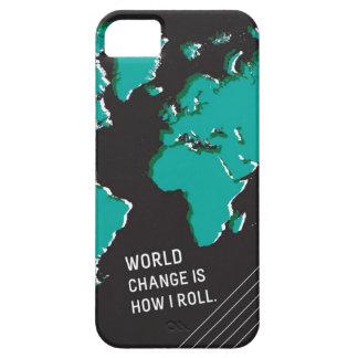 El cambio del mundo es cómo ruedo iPhone 5 carcasa