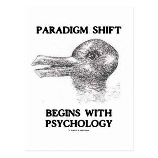 El cambio del paradigma comienza con psicología tarjeta postal
