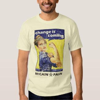 """el """"cambio es"""" McCain/Partido Republicano de Palin Camisas"""