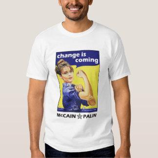 """El """"cambio es"""" McCain/Partido Republicano de Palin Playera"""