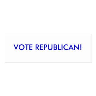 """el """"cambio es"""" McCain/Partido Republicano de Palin Tarjetas De Visita Mini"""