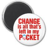 El cambio es todo que se deja en mi antiobama del  imán para frigorifico