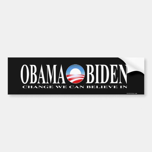 El cambio obama biden negro del pegatina pegatina de parachoque