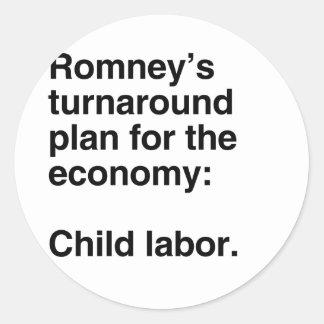 El cambio plan.png de Romney Pegatina Redonda