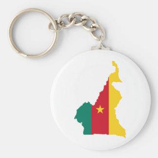 El Camerún cm Llavero Redondo Tipo Pin