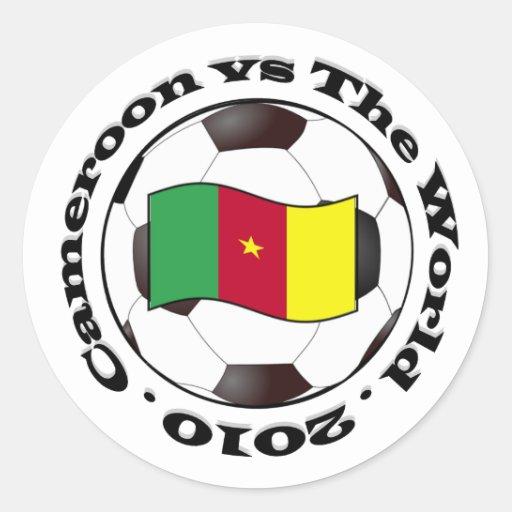 El Camerún contra el mundo Pegatinas Redondas