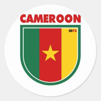 El Camerún Etiqueta Redonda