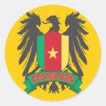 El Camerún se fue volando Pegatina Redonda