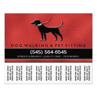 """El caminante 5,6 x4.5 del perro rasga apagado el folleto 4.5"""" x 5.6"""""""